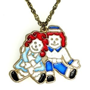 Jewelry - Vintage Raggedy Ann and Andy Collectible Necklace